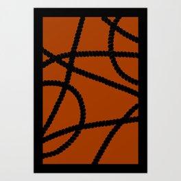 White Ropes Art Print