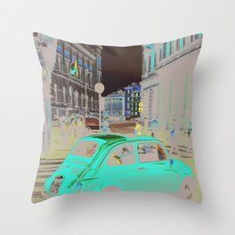 FIAT IN ROME Throw Pillow