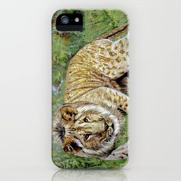 Lion oil painting iPhone Case