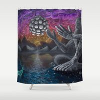 atlas Shower Curtains featuring Atlas by Drake Arnold Art