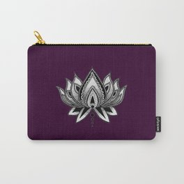 LOTUS FLOWER PURPLE Carry-All Pouch