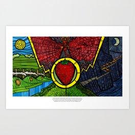 The Taste of Strawberries (Lord of the Rings) Art Print