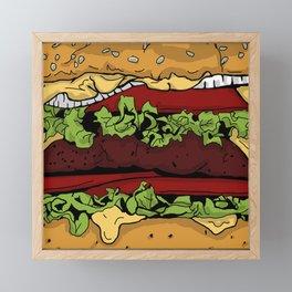 Cheeseburger Framed Mini Art Print
