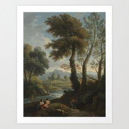 "Jan Frans van Bloemen, called ""Orizzonte"" Flemish, worked in Italy 1662 - 1749 Idyllic Landscape Art Print"