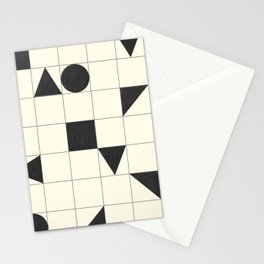 geo shapes Stationery Cards