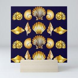 gold shell Mini Art Print