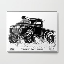 1946 Chevy Pick-up – BLACK Metal Print