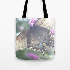 Sheer Butterfly Tote Bag