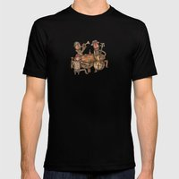 The Small Big Band MEDIUM Black Mens Fitted Tee