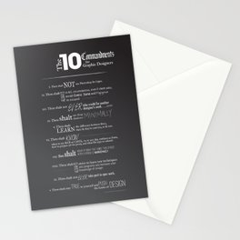 The 10 Commandments for Graphic Designers Stationery Cards