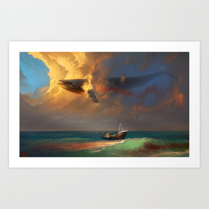 Sorrow for the Whales Art Print