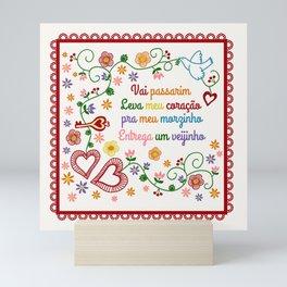 Valentines Gift or Lenço dos Namorados Mini Art Print