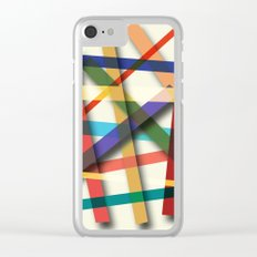 Abstract #436 Clear iPhone Case