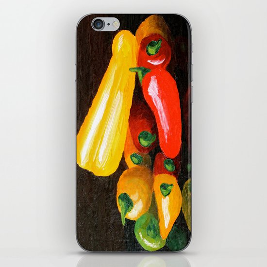 Peppers From a Friend, the painting iPhone & iPod Skin