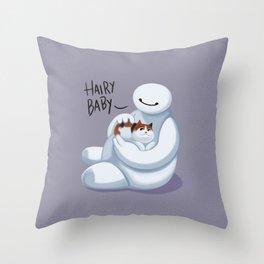 Big Hero -Hairy Baby  Throw Pillow