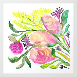 Conceited Floral Art Print