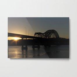 Julian Dubuque Bridge At Sunset Metal Print