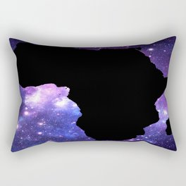 Galaxy AFrica Purple Blue Rectangular Pillow