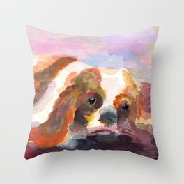 My Sleepy Puppy Throw Pillow