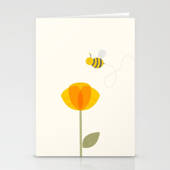 Bee a Flower Stationery Cards