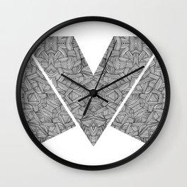 M zigzag Wall Clock