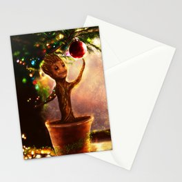 Christmas baby Groot Stationery Cards