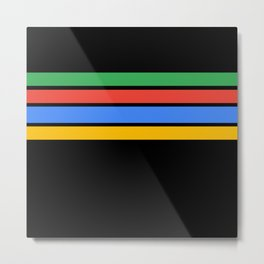 Team Colors....Green ,red, blue, yellow black Metal Print