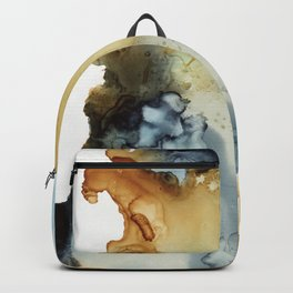 Abstract in umber and grey Backpack