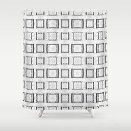 100 - Many frames pattern Shower Curtain