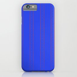 Simple design. Lines on an blue background. iPhone Case