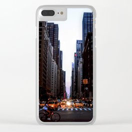City lights - New York Clear iPhone Case