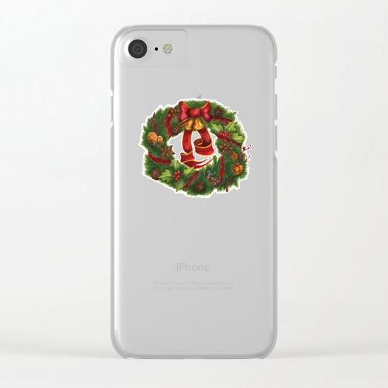 Christmas wreath. Art nouveau. Clear iPhone Case