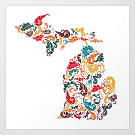 Michigan Colors Art Print