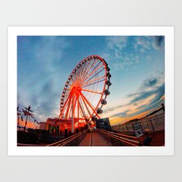 Sunset in Maryland Art Print