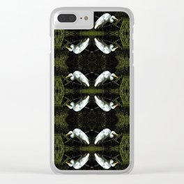 Egret at Rest Clear iPhone Case