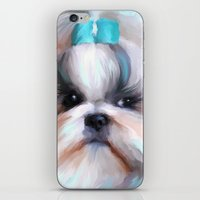 shih tzu iPhone & iPod Skins featuring Little Boy Shih Tzu by Jai Johnson