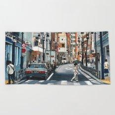 Tokyo Crossing Beach Towel