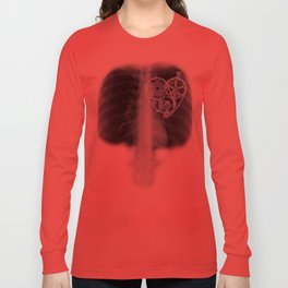 X Ray Bicycle heart components Long Sleeve T-shirt