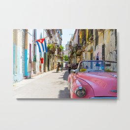 Colorful building streets in Cuba Metal Print