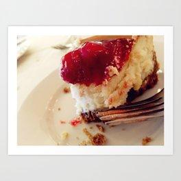Cherry Cheesecake Art Print