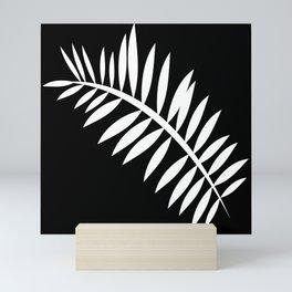 PALM LEAF WHITE LEAF Mini Art Print