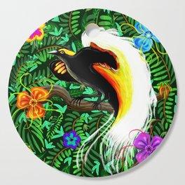 Paradise Bird Fire Feathers Cutting Board