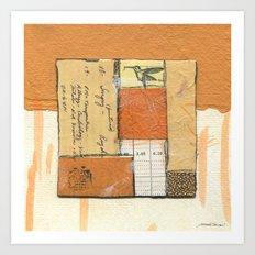 Flying Colors in Orange Art Print