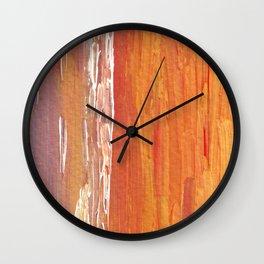 Golden Mist Wall Clock