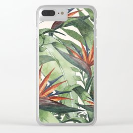 Tropical Flora I Clear iPhone Case