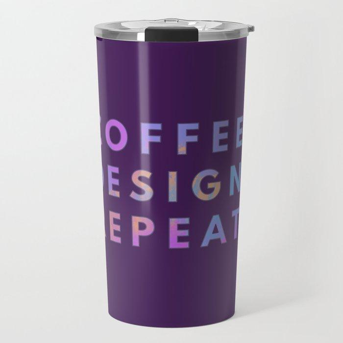 Coffee Design Repeat Travel Mug