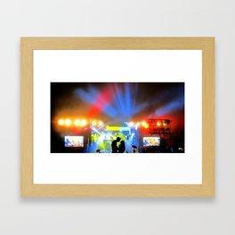 Music Festival Love Framed Art Print