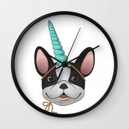 French Bulldog Unicorn Wall Clock