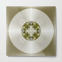 Vinyl Record Illusion in Sepia Metal Print