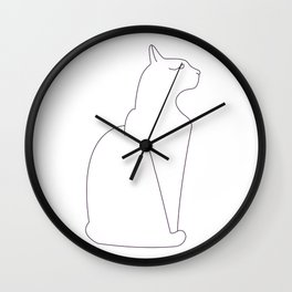 faux eggplant picasso Wall Clock